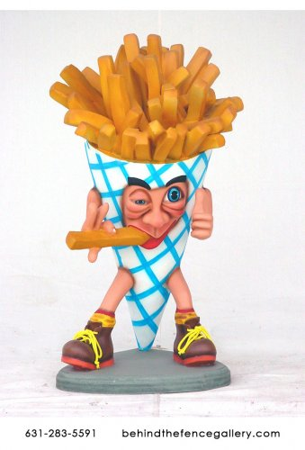 French Fry Man Statue - 30 in.