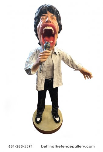 M.Jagger Caricature Statue
