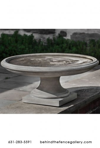 Cast Stone Montebello Birdbath Statue - Click Image to Close
