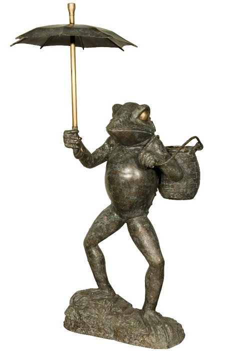 Frog with Umbrella Fountain
