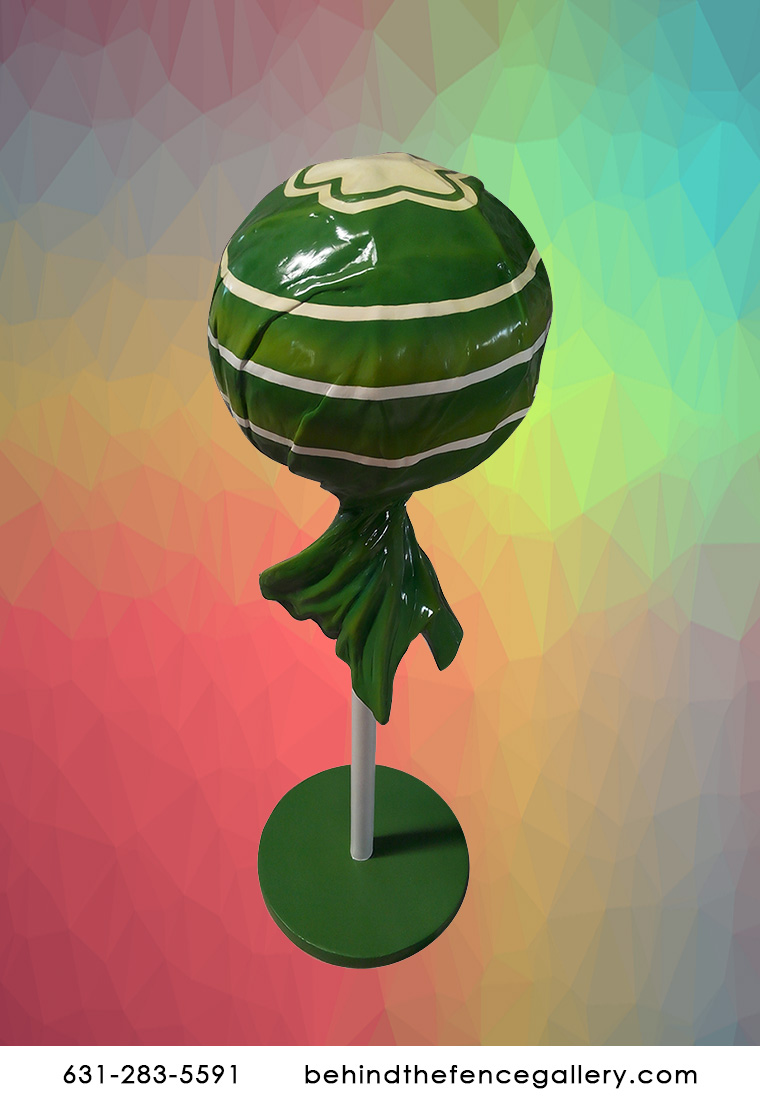 Green Wrapped Lollipop