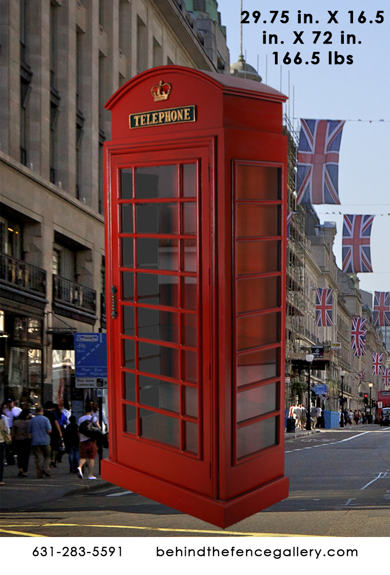 Red London Phone Booth Replica