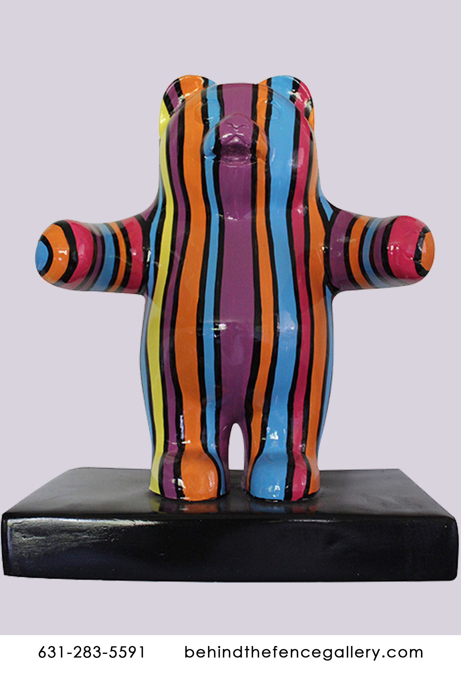 Mini Pop Art Gummy Bear Wall Statue