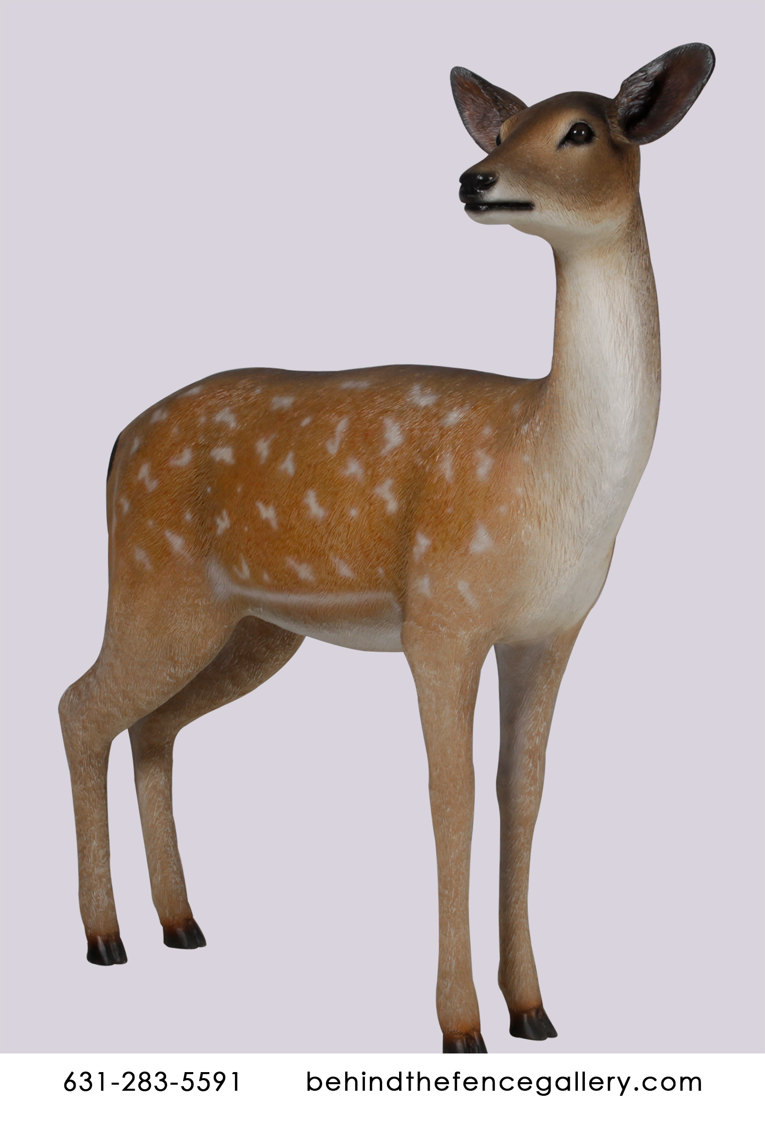 Deer White Tail Doe Statue Forest Animal Theme Prop