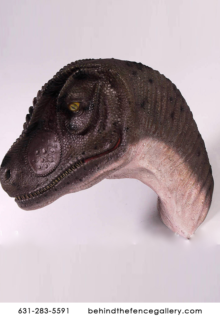 Dinosaur Head Allosaurus Wall Mount