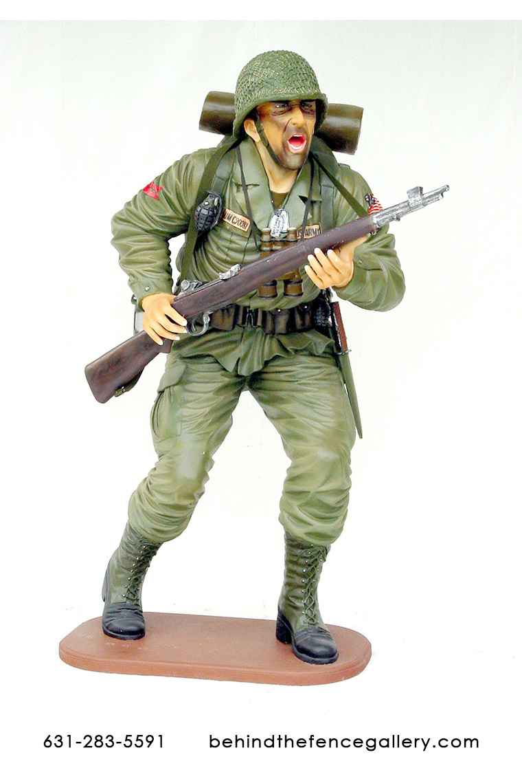 American Soldier Statue - 6 ft. American Soldier Statue