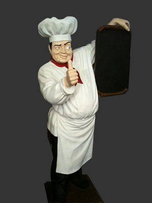 Pizza Chef with Menu Board 6 Ft.