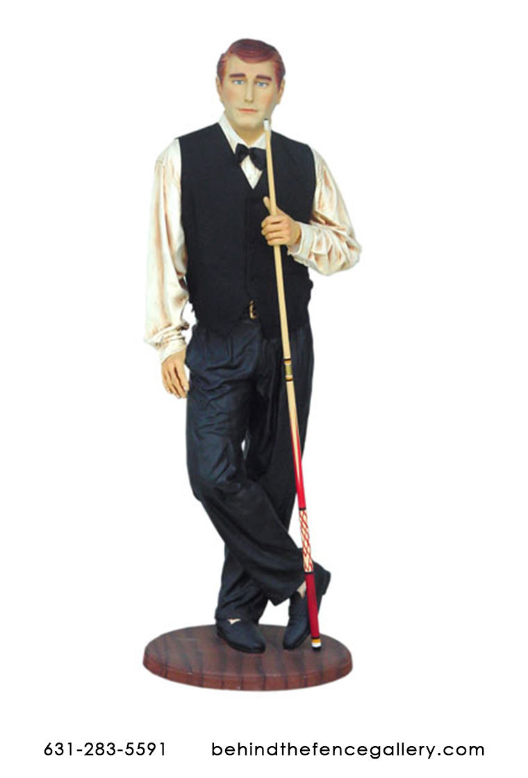 Billiard Player Statue