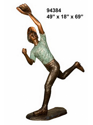 Bronze Baseball Fielder