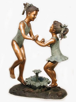 Bronze Beach Girls Fountain