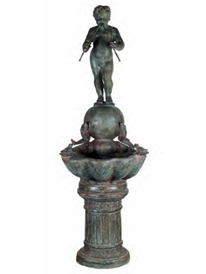 Bronze Boy with Flute - Close Out