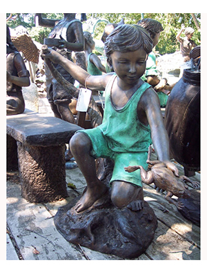 Bronze Boy with Frog