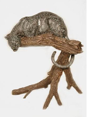 Bronze Cheetah on Tree