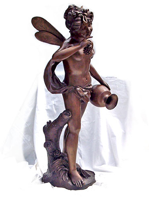 Bronze Cherub with Pot