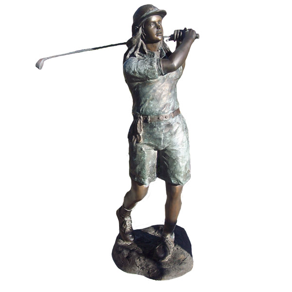 Bronze Golf Player