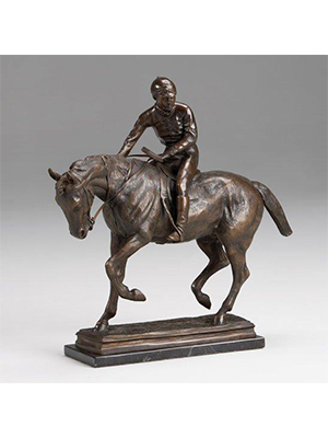 Bronze Jockey on a Horse