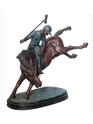 Bronze Polo Player Statue