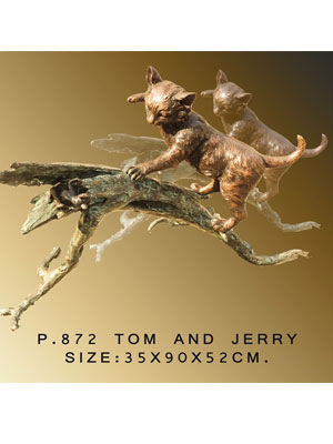 Bronze Cat and Mouse