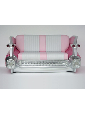 Cadillac Sofa Couch (Pink)