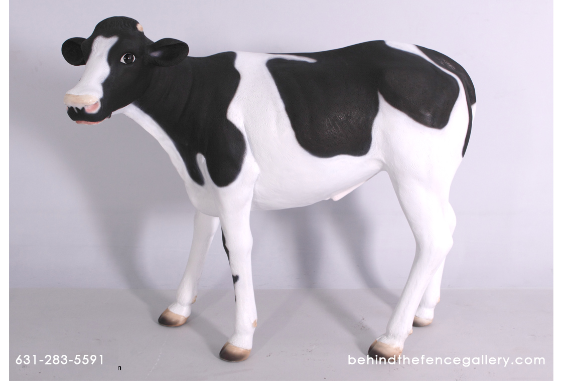 Cow Calf Life Size Statue