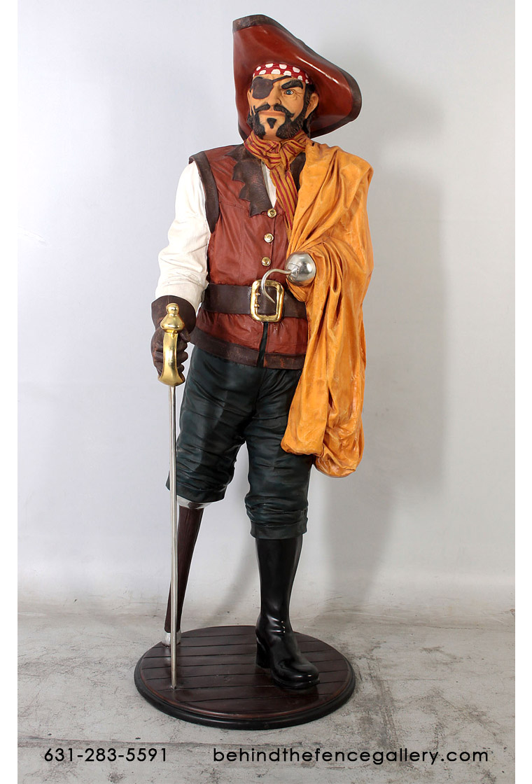Captain Wooden Leg Statue