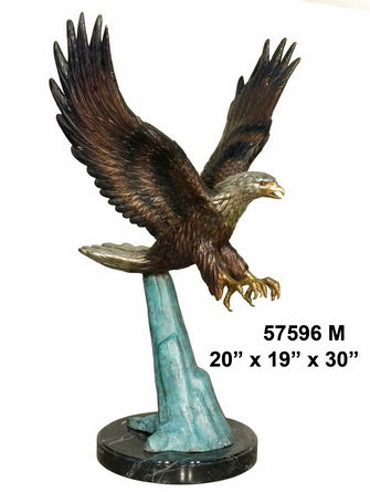 Bronze Flying Eagle with Color