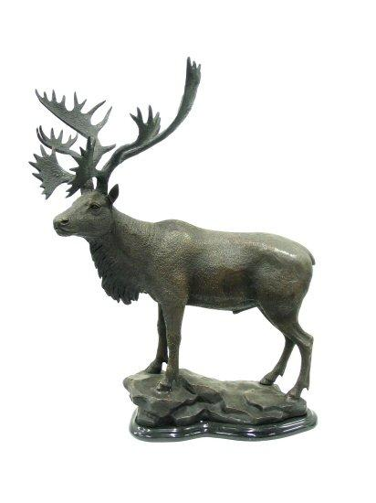 Moose on Marble Base - Click Image to Close