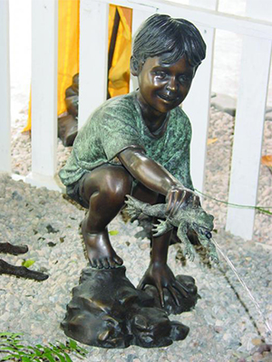 Boy with Frog Fountain