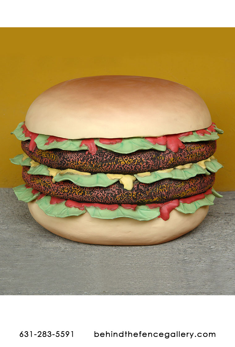 Double Patties Burger Statue