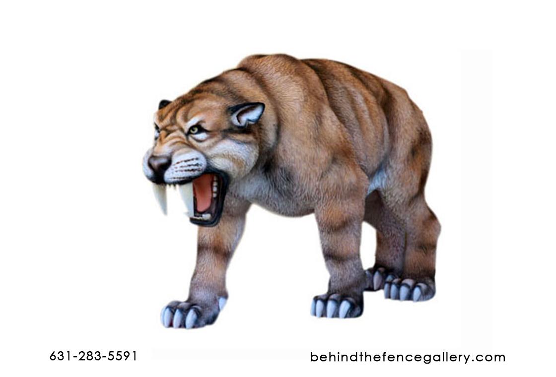 Saber Toothed Tiger Statue Saber Toothed Tiger Statue