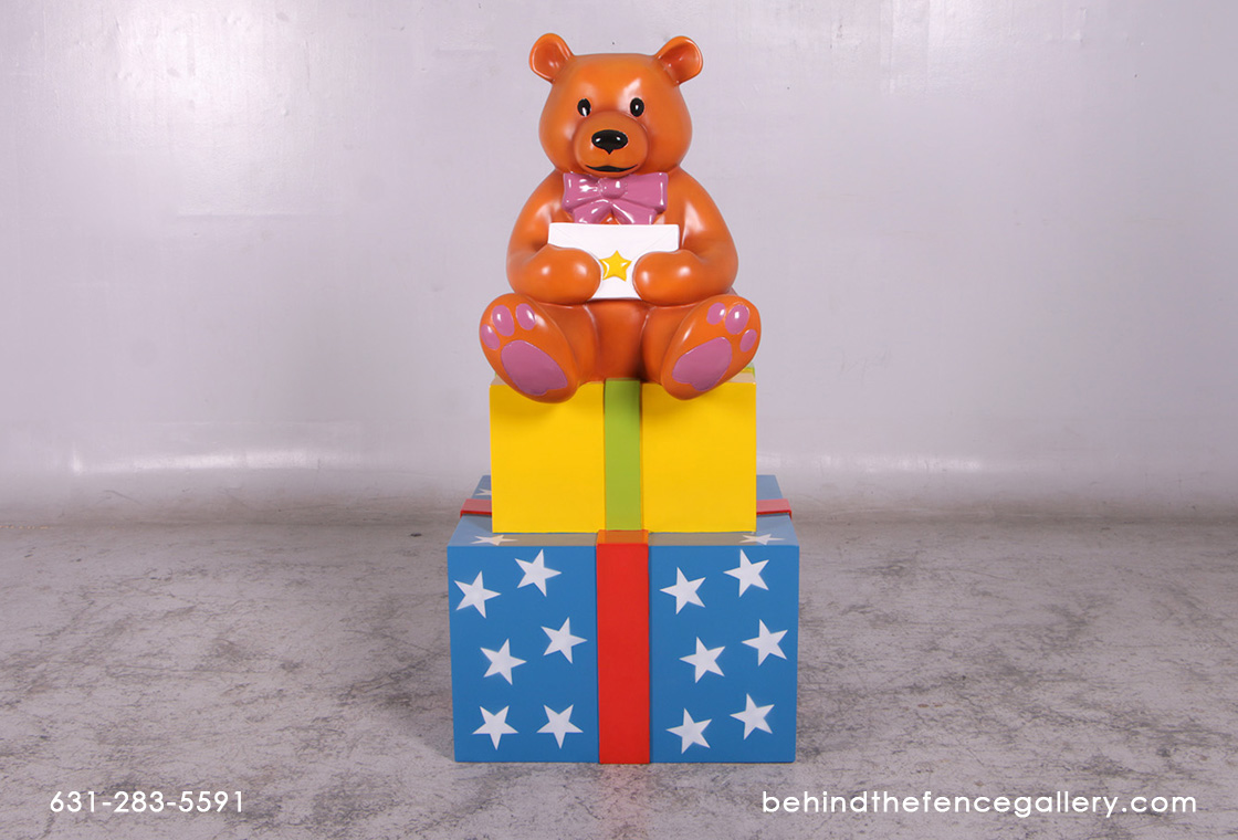 Christmas Bear with Gifts Statue