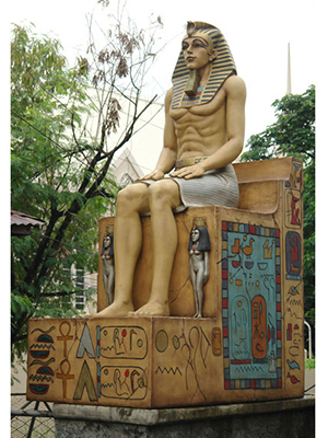 Egyptian Sitting on Throne
