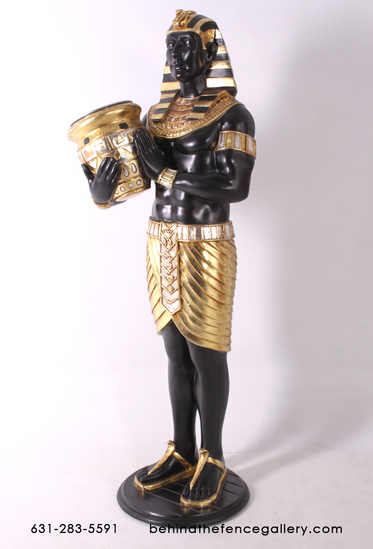 Egyptian Wine Holder Statue - 5ft.