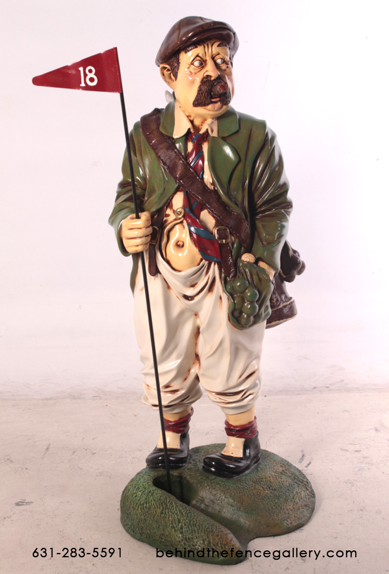 Golf Caddy Statue - 3ft