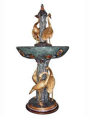 5 Birds Fountain - Special Patina