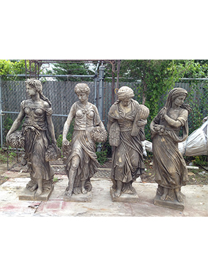 Four Seasons Statues (Set of 4)