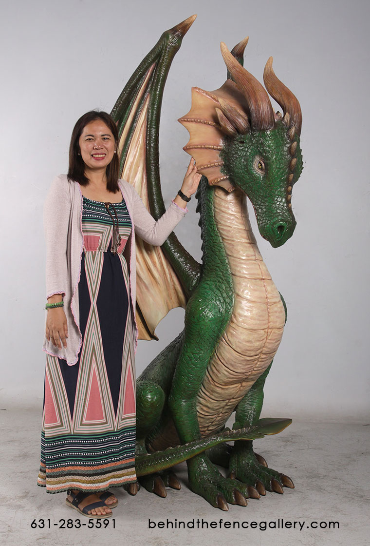 Dragon Statue Sitting 7ft Medieval Prop