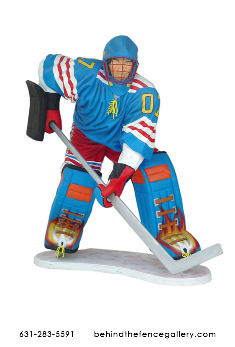 Ice Hockey Player Statue