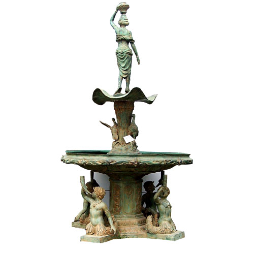 Bronze Fountain with Mermaid