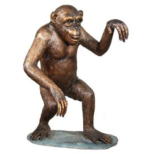 Bronze Walking Monkey