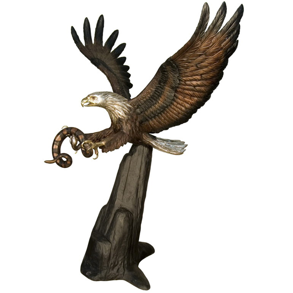 Bronze Eagle with Snake