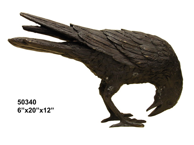 Bronze Raven Statue