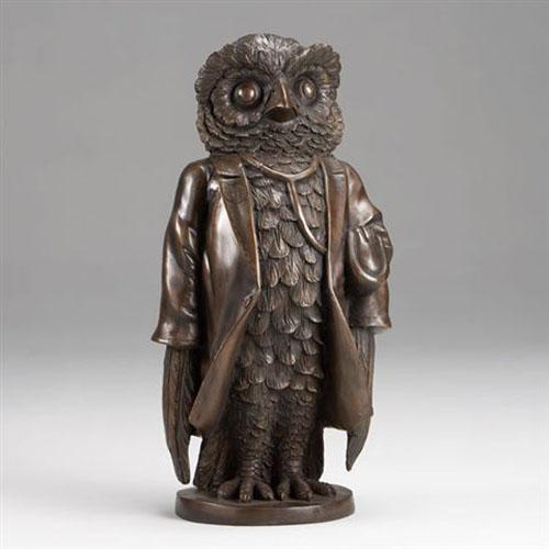 Bronze Mr Owl Figurine