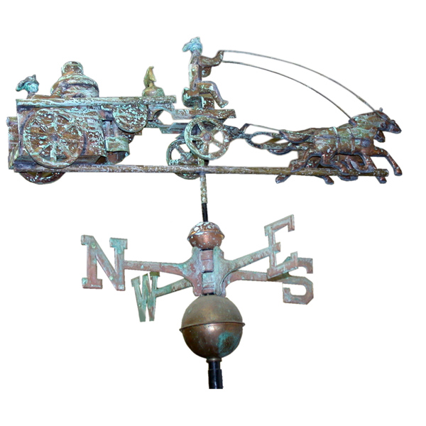 Fire Engine Cooper Weather Vane