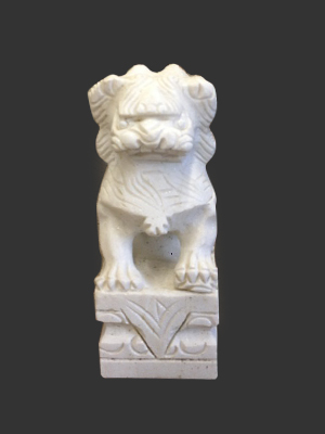 Marble Chinese Foo Dog 8''