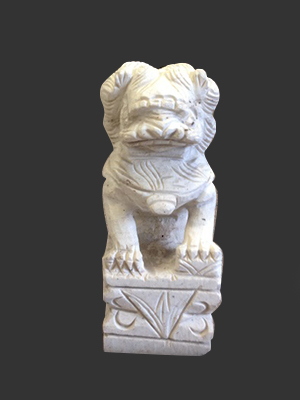 Marble Chinese Foo Dog 10'