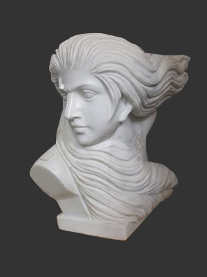 Marble Head Swept back Hair
