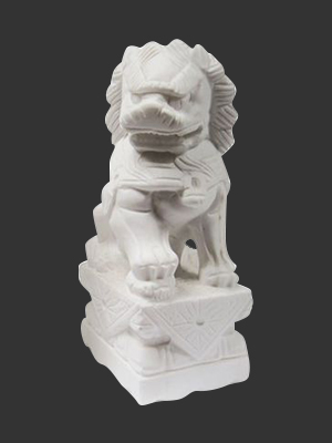 Foo Dogs with a smooth finish ( Pair ) / medium