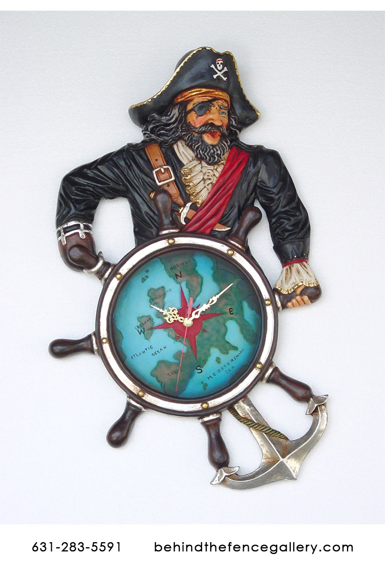 Pirate Clock Wall Display - Click Image to Close