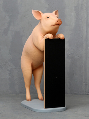 Pig with Menu Board 4.5 Ft